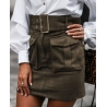 SPODNICZKA POCKET SKIRT KHAKI