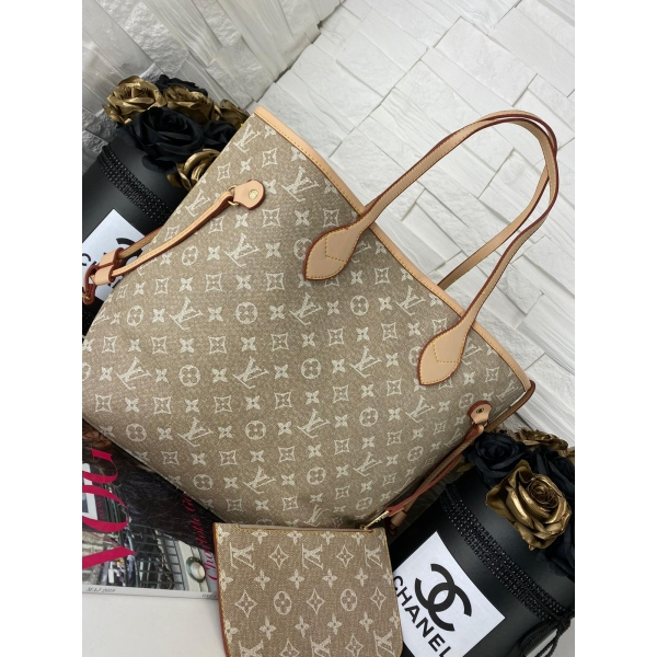 SHOPPER NEVERFUUL LV BEIGE