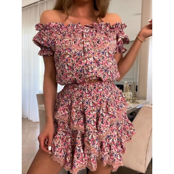 KOMPLET MARINA • bluzka i spódnica