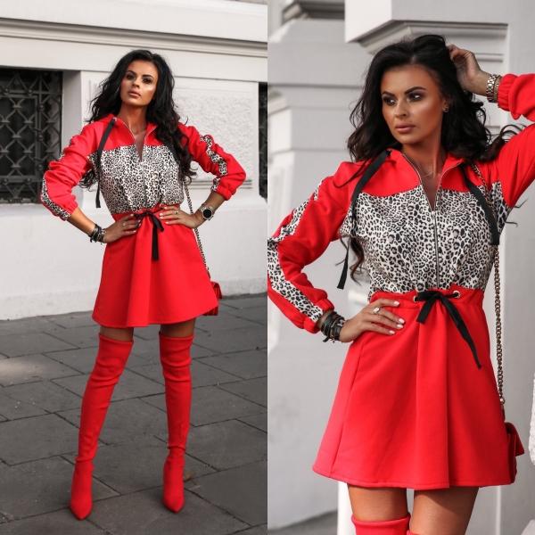 SUKIENKA WILD DRESS • CZERWONA