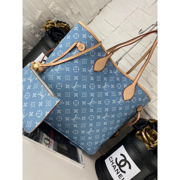 SHOPPER NEVERFUUL LV BLUE